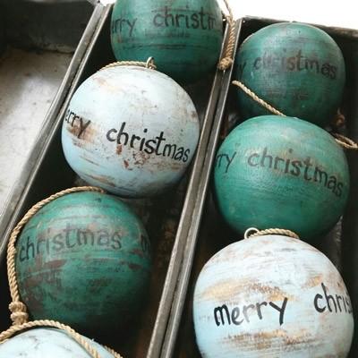 kerstballen brocante